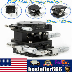 Xyz 4axis Linear Stage Trimming Platform Bearing Tuning Sliding Table 60mmx60mm