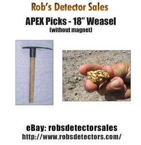 Apex 18 Weasel Prospecting Pick Gold Prospecting Pick For Gold Nuggets
