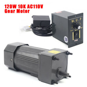 120w 110v Ac Gear Motor Electric Variable Speed Controller Torque 1 10 0 135rpm