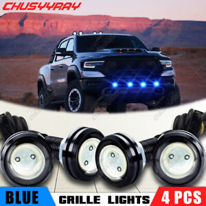 4x Led Front Grill Grille Drl Lights Ice Blue For Ford F150 Raptor 2010 2018