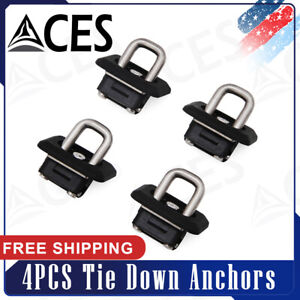 4pcs Inner Bed Retractable Tie Down Anchors For 2007 2020 Chevy Silverado Gmc