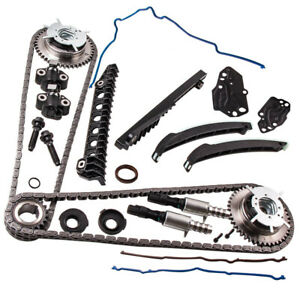 Timing Chain Kit Cam Phaser Gasket Set Fit Ford 5 4 Lincoln Triton 04 10 3 valve