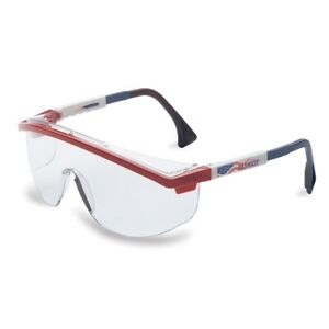 1 Pair Uvex Astrospec 3000 Safety Glasses Patriot Duoflex Temples Clear Anti fog