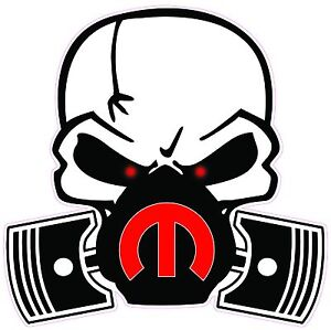 Skull Mask Mopar Red Decal 5 In Size Free Shipping