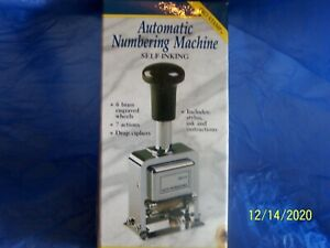 Rogers Automatic Numbering Stamp Machine Self Inking Includes Ink