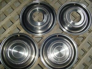 Vintage International Pickup Truck Scout Hubcaps Center Caps Wheel Covers Rims