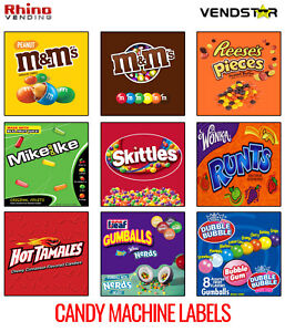 9 Candy Vending Machine Stickers Labels 2 5 X 2 5