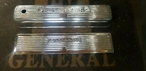 Chevy 235 261 Polished Aluminum Valve Side Cover With Breather