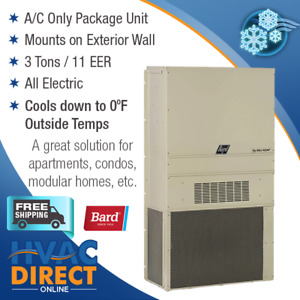 Bard 3 Ton 11 Eer Wall Mounted Packaged Air Conditioner Low Ambient Cooling