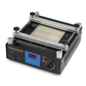 Smd Pcb Preheater Bga Rework Station 853a Infrared Preheating Station 600w