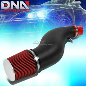 6 Flared Pipe Short Ram Air Intake Induction System Red Filter For Civic Eg Em