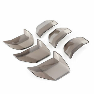 6pcs Tail Light Cover Trim Auto Upgrade Parts Accessory For Mustang 2018 2020