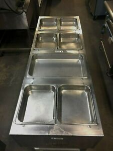 Steam Table Dimens 64 X 23 X 36 h 4 Bowl Gas Eagle Ht4 Ngb Stainless Steel