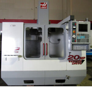 2001 Haas Vf 2 Cnc Vertical Mill 30 x16 Thru spndl Cool Probe 4th axis Ready