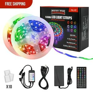 Daybetter Led Strip Lights 328ft 10m Rgb With 44 Keys Ir Remote And 12v Power