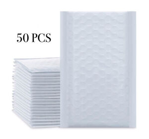 Pack Of 50 Padded Bubble Envelopes Shipping Bag Small Items Like Jewelry 4x8 Wht