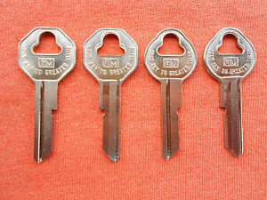 4 Corvette Chevelle Chevy Ii Gto Impala 442 Gm Key Blanks 60 61 62 63 64 65 66