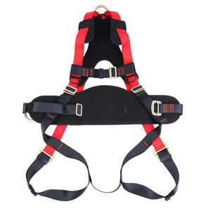 Full Body Safety Harness Fall Protection Construction Harness Search Red Black
