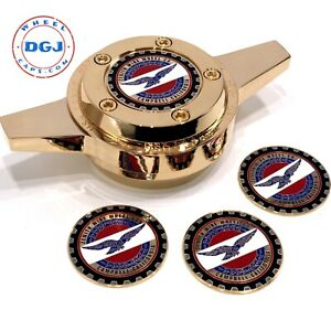 Zenith Red White And Blue On Gold Lowrider Wire Wheel Metal Chips Emblems