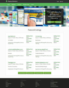 Flippa Clone Website Buy And Sell Websites And Domains Free Hosting