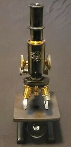 Vintage Antique Spencer Buffalo Co Scientific Brass Accent Microscope 66255 A