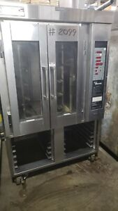 Baxter Ov300g Mini Rotating Rack Convection Oven Gas On Stand Great Condition