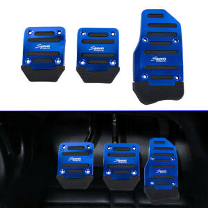 Non slip Car Truck Pedals Pad Cover Set Blue Universal Racing Sport Manual