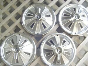Vintage Hubcaps 1966 66 Spinner Ford Mustang Wheel Covers Center Caps Antique