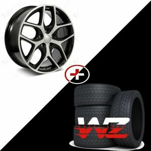 17 F Vt Style Machined Black Wheels W Tires Fits Ford Focus Fusion