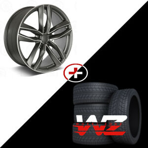 20 S7 Style Machined Gunmetal Wheels W tires Fits Audi A4 A6 A8 S4 S5 S6 S7 Tt