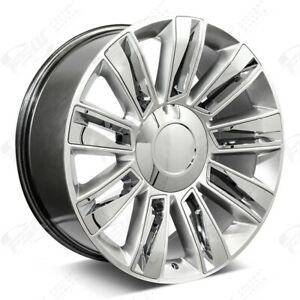 26 Diamond Style Hyper Silver Wheels Fits Cadillac Escalade Esv Ext