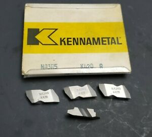 4pc Kennametal Top Notch Na3r5 Inserts Acme 5 Threading Machinist Ng3 Grooving