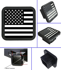 Trailer Rubber Hitch Cover Plug Fits 2 inch Receiver Tube Classy Black Universal