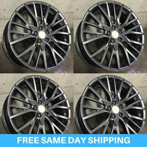 New 18 Hyper Dark Rx Fsport Style Rims Wheels Fits Lexus Rx330 Rx350 Set 4