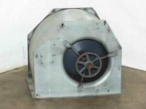 Large Generic 14 Squirrel Fan W Aluminum Housing And Pulley No Motor As Is