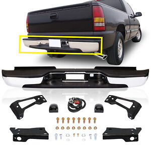 Complete Chrome Step Bumper For 99 07 Silverado Sierra 2500 3500 Hd Fleetside