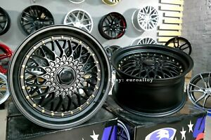 New 18 Inch 5x120 5x112 Et30 Wheels For Bmw Audi Old School Jdm Bbs Rs Style