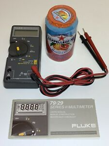 fluke 79 Series Ii Handheld Portable Digital Mulitmeter Probes True Rms