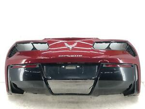 2014 2019 Chevrolet Corvette Rear Bumper Cover Lower Upper Only Red Damages