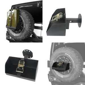 For 1997 2021 Jeep Wrangler Jerry Can Black Steel Spare Tire Mounting Bracket