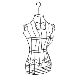 Mygift Black Metal Wire Frame Display Stand Hanging Dress Form With Garment Bag