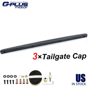 3x Tailgate Molding Top Cap Protector Cover Black For 02 08 Dodge Ram 1500 2500