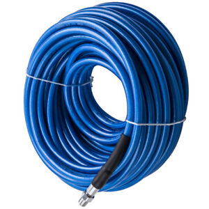 100ft Air Mover Blue Carpet Cleaning Truck Mount Wand Solution Hose 3000 Psi