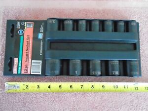 Nos Usa Craftsman No 15884 Impact 1 2 Drive Socket Set Mechanics Tools
