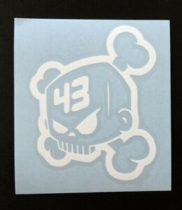 Ken Block 43 Skull White Vinyl Decal 3 5 X 4 For Ford Hoonigan Accents
