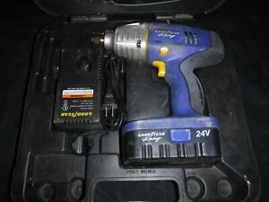 Goodyear 33609 1 2 24v Cordless Impact Wrench W Battery Case Charger Read