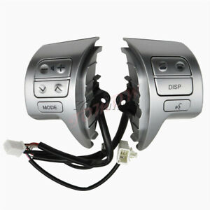 Steering Wheel Control Switch Silver For Toyota Corolla Zre15 07 14 84250 02200