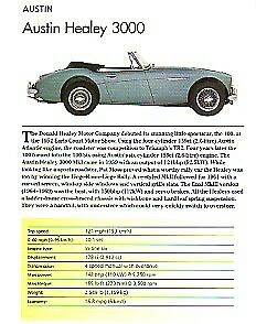 Austin Healey 3000 Article Must See