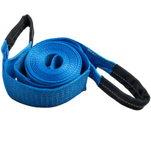 4 X 30 20000 Lb Recovery Winch Tow Loop Strap 4x4 Rope Chain Towing Truck Boat