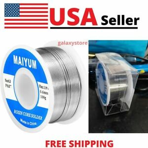 Premium 63 37 Tin Lead Rosin Core Solder Wire For Electrical Soldering 6mm 100g